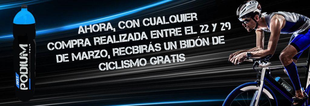 <p>Bid&oacute;n de ciclismo gratis con tus pedidos Just Podium</p>