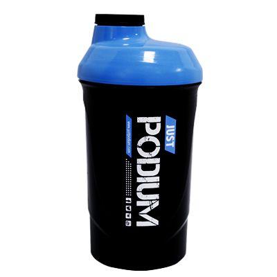 Shaker con capacidad de 600 ml para una perfecta disolución del producto, de color negro