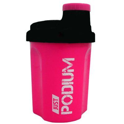 Shaker rosa con capacidad de 300 ml para una perfecta disolución del producto