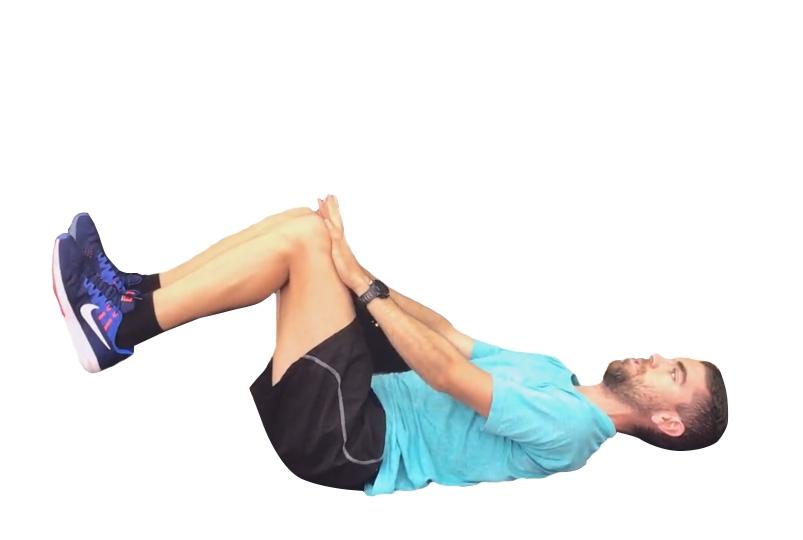 ejercicios para abdominales: cucaracha