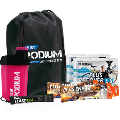 PACK AHORRO PODIUM-PINK, 2 Plus Recoverium + 2 Plus Energium + Gymsack + Shaker Rosa 300ml