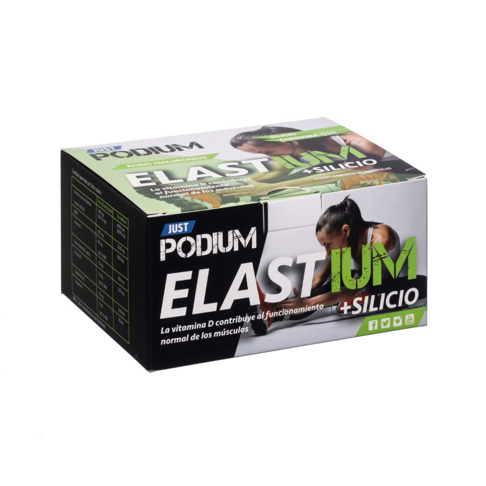 Elastium coenzima Q10, silicio y ácido hialurónico Just Podium