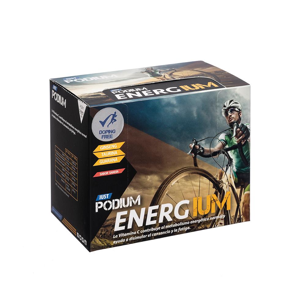 Energium, taurina y guaraná con vitamina C, 12 sobres