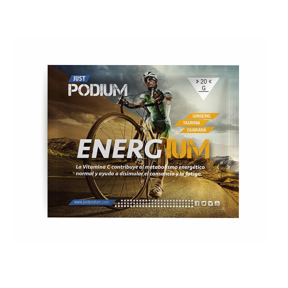ENERGIUM aporta entre otras, Vitamina C, que contribuye a disminuir el cansancio y la fatiga.