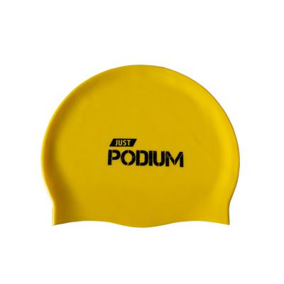 Gorro para natación de silicona amarillo (Unisex)