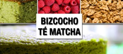 Aprender a hacer un bizcocho saludable de té matcha