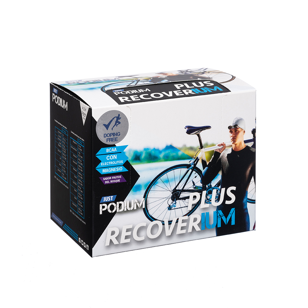 Plus Recoverium con l-glutamina y zinc, 12 sobres