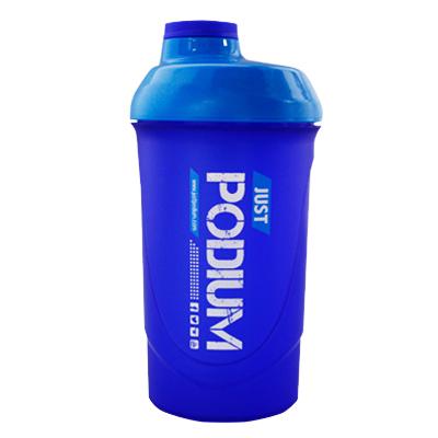 Shaker con capacidad de 600 ml para una perfecta disolución del producto, de color azul cielo