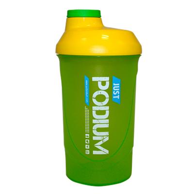 Shaker verde con capacidad de 600 ml para una perfecta disolución del producto