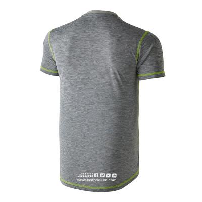 Parte trasera camiseta técnica deportiva gris