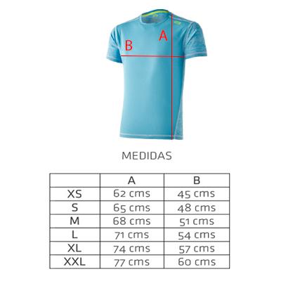 Camiseta técnica deportiva Azul